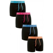 Mens Next Black Bright Waistband A-Fronts Four Pack - Black