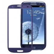 High Quality Front Screen Outer Glass Lens for Samsung Galaxy SIII / i9300 (Navy Blue)