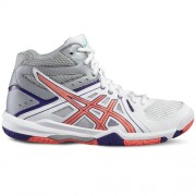 asics Damen-Volleyballschuh GEL-TASK MT W - white/flash coral/parachut