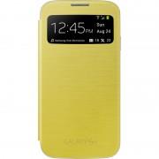 Flip Cover Samsung S-View EF-CI950BYEGWW galben pentru Galaxy S4