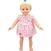 Cute Baby Doll Clothes Summer Small Flower Pink Doll Clothing Dress for 14 - 16 Inches American Girl Dolls , (Pink)