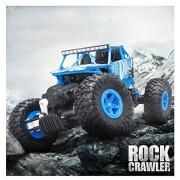 Malloom Escala 1/18 2.4 G 4WD Radio RC Coche Control Remoto Todoterreno Off-Road Rock Crawler de escalada (Azul)