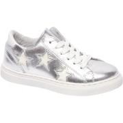 Premium - Zilveren leren sneaker sterren