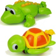 Bath Time Wind Up Swimming Crocodile or Turtle Bathtime Kids Toddler Toy by P&B