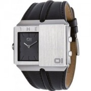 The One Watches SD102B1 Mens Slider Black Dual Time Watch