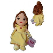 Belle 12'' Plush Doll Disney Princess Collection Soft Toy Brown Hair Yellow Dress Beauty & The Beast by Play by Play