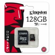 Card de memorie Kingston microSDXC 128GB + adaptor SD clasa 10
