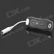Mini reproductor de MP3 impermeable w / radio FM - negro + blanco (4 GB)