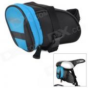 ROSWHEEL 13656-B elegante practico 600 Dacron + cola PVC bolsa para bicicleta - negro + azul