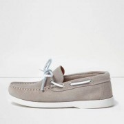 River Island Boys Beige suede boat shoes
