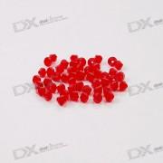 Austria Ornamental DIY Crystal Beads Red (50-Pack)