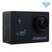 SOOCOO C10S HD 1080P NTK96655 2.0 inch LCD Screen WiFi Sports Camcorder with Waterproof Case 170 Degrees Wide Angle Lens 30m Waterproof(Black)