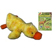 "Unipak Lying Duck 22"" Plush Stuffed Animal with Forest Animals Sticker Book"