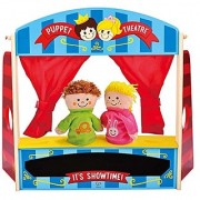 Hape - Early Explorer - Wooden Puppet Stage Playhouse Set