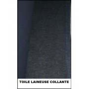 Toile lainee laineuse noir 150 cm
