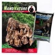 NanoNature Drakensteen Set - 5 Stenen + 3 Liter NatureSoil bruin, fijn