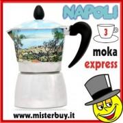 MOKA ESPRESSO NAPOLI CAFFETTIERA TRE TAZZE