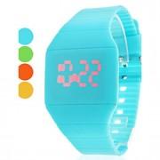 Relógio Unissex Digital TouchScreen com LED Vermelho de Borracha (Cores Sortidas)