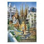 Educa Anton Gaudi, Kollázs mini puzzle, 1000 darabos