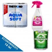 PACHET WEEKEND G1: hartie igienica + saculeti de descompunere deseuri + spray igienizare