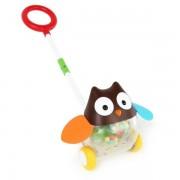 Pchacz dla dzieci Sowa - zabawka do pchania z kulkami SKIP HOP EXPLORE & MORE 303103