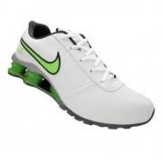 Tenis Nike Shox Classic Branco e Verde