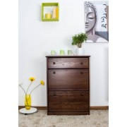 Steiner Shopping Furniture Shoe cabinet 004, solid pine wood, nut finish - H98 x W72 x D29 cm