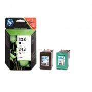 HP 338/343 Combo-pack Inkjet Print Cartridges (SD449EE)