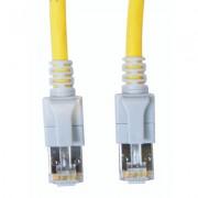 Cablu Schrack LED RJ45 ecranat Cat 6A, 10GB, LS0H, galben, 3m