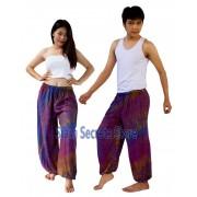 Purple Tie Dye Pants Rayon Hippy Beach Trousers Quality Designs