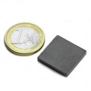 Magnet ferita bloc, 20x20x3 mm, putere 450 g