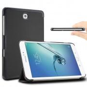 Samsung Galaxy Tab S2 8.0 T715 / T710 - Fold Stand Smart Case Leather Book Hoes voor bescherming voor- en achterkant - Kleur Zwart
