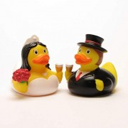 Patito de goma Bride and Groom | Patito de baño | Patito de hule