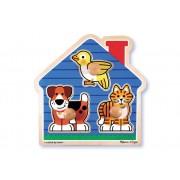 3 Piece House Pets Knob Puzzle by Melissa & Doug
