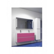 Ansamblu mobilier Riho cu lavoar marmura 120cm gama Cambio Steretto, Set 23 Silk