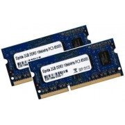 Elpida - Modulo RAM da 4 Gb, a doppio canale (2 x 2 GB), 204 pin, DDR3- SO-DIMM (1066/1067 Mhz, PC3-8500S, CL7), per Apple e Notebook, Apple ID 0x02FE