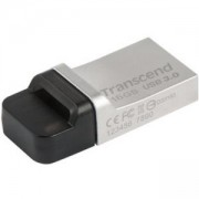 Флаш памет Transcend, 16GB, JetFlash 880 On-The-Go for ANDROID, USB 3.0, Silver Plating, TS16GJF880S