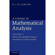 A Course in Mathematical Analysis: Metric and Topological Spaces, Functions of a Vector Variable Volume 2 by D. J. H. Garling