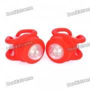 2-modo LED rojo Tie-On Light Light Llaveros Bike - Red (Par / 2 x CR2032)