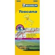 Wegenkaart - landkaart 358 Toscane - Toscana   Michelin