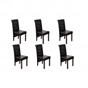 vidaXL 6 x Jedálenská stolička hnedé