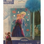 Disney Frozen Elsa and Anna Mini Blue Diary with Pen