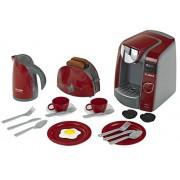 Theo Klein Bosch breakfast set with Tassimo coffee maker - juguetes de rol para niños (Chica, Burdeos)