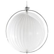 Suspension boule design 'LISA' en lamelles flexibles blanches