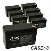 12V 9Ah 8pk Sealed Lead Acid Batteries Universal UB1290 F1