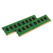 Kingston KVR21N15D8K2/16 ValueRAM Memoria DDR4 da 16 GB, 2133,MHz, Non-ECC CL15 DIMM, 2x8 GB, Verde/Nero