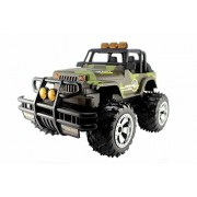 Sevn Jeep Convertible Electric Rc Off-road Truck 1 14 with Working Headlights Color Camouflage Green