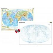 Harta fizică a Iumii – Duo 100x70 cm