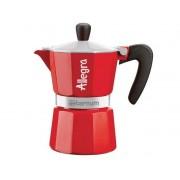 Bialetti Aeternum Allegra 3 személyes kotyogós kávéföző piros színben