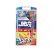 Gillette sensor3 nitro usa&getta 4 rasoi + 2 omaggio